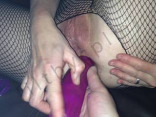 Oh the combinations here. Dildo in your sweet ass hole my tongue on your clit and slit, or my long thick dick in your pussy pumping it long and hard, or me using a vibrator on your pussy or hell forget the dildo my huge, hard dick stretching your tight ass hole and fucking it long and hard!