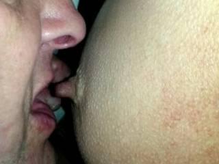 licking,kissing,sucking her nipple
