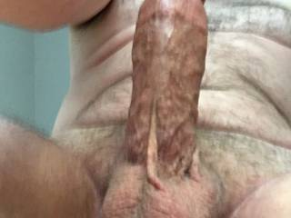 Hmmm, was so horny this morning... my dick got up before me ;-) like the view?