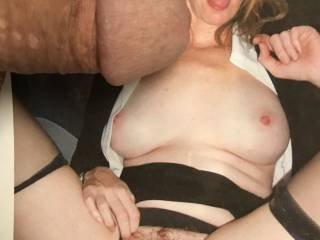 I'd love to let mdj2000 exercise her oral magic on my mature cock with that seductive tongue of hers.