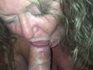Cathy eating candy rings off my cock