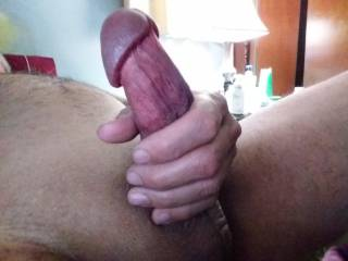 Come and lick the head of my cock 😈