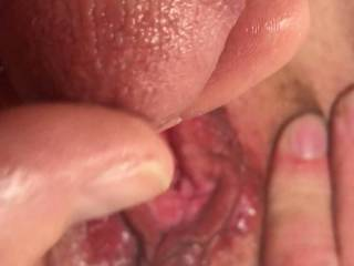 Tesa always makes me hard and this open wet pussy begs to be tributed! Thanks for making my day!