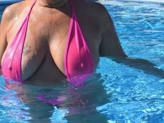 Hard wet nipples\'.