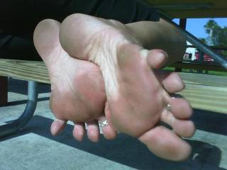 I'd love to lick your feet and taste your footsweat.  Lick between your toes and make them slick with my tongue . . .