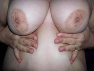 I would try  but may need a buddy or 2  to fully take care of those awesome tits