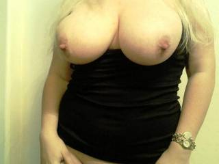 My sexy blonde! I love her big tits!
