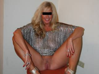 """All dressed up for dinner at a swingers resort. This little (5'0"""") firecracker is a wonderful mix of sweetheart, professional woman and wild slut. We're always interested in meeting very select, educated men in the Central Virginia area."""
