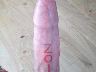 """My cock + sharpie = ZOIG """"i'm real"""""""