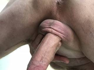 Just dreaming of someone eating my bunghole and cock.