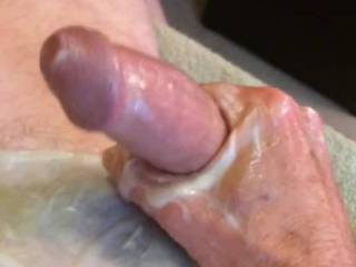 While stroking with a porn vid, I decided to try getting video of my cumshot. I was already pretty far along, and, well...