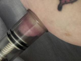 Mechanical suction for Sally's nipple.