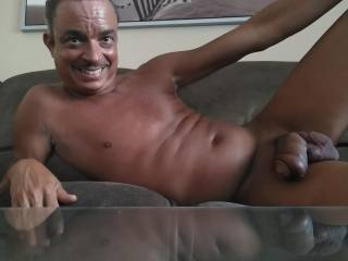 Fat cock lounging