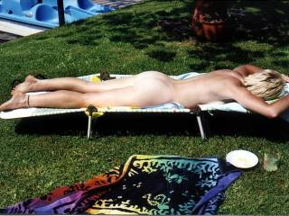 Would you like me to use my ahrd cock to rub sun lotion all over your hot naked body?