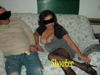 cuckold couple that came to play at shooters house.