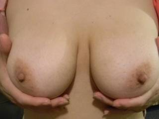 Spectacular tits. Now let me see...I think a titty fuck might just work!
