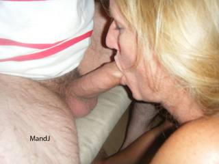 J   Love your blonde hair & the blowjob