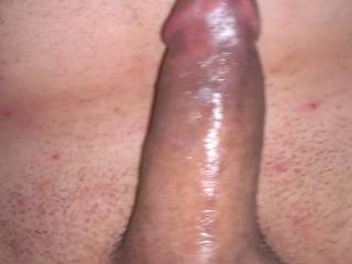 My cock recovering after kittie claimed my hot think load deep in her pussy
