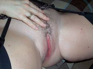 Fantastic pic of your gorgeous cunt so sexy covered with fresh cum!