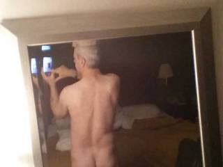 """Fooling around in a hotel room...realized I\'ve never taken a """"butt"""" selfie! Here\'s my first...any comments?"""