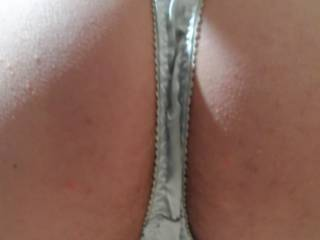 Wife's at work again so I get to play in these satin panties.