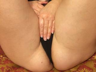 Would you lick my mature pussy if I move my hand!