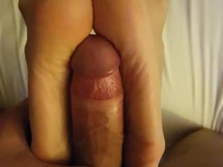 fucking her perfect, smelly, sweaty feet and she's letting me do it
