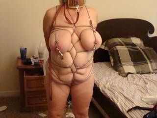 Tied tight waiting to be used
