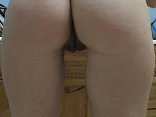 My wifes pussy bent over for me. We're ready for a hot couple!