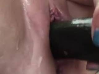 Pregnant MILF cant get enough of stretching her sweet pussy with enormous vegetables, and even her hand. She only recently discovered the joys of stretching, and she isn't sure you all will want to watch. So please tell her what you think!