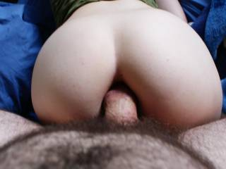 Midway through a second session of deep anal doggy style