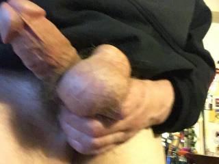 Do you like big dicks and big balls you'll need both hands to handle my cock and balls