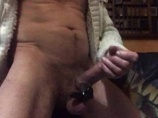 Got a Cock ring with a vibrating bullet attached. Feels sooo good