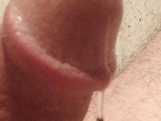 I got so worked up I ended up dripping with precum again. Comments welcomed and appreciated.