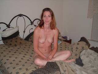 Just a candid shot of my girlfriend, suprised she's letting me show you all, I guess she's feeling horny! Help me convince her to do more! Please!