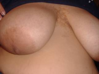 I would love to suckle those. I hope they are sensitive and sucking makes your pussy dripping wet.