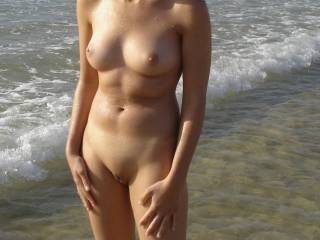 Wow your are absolutely gorgeous !!!!!!!!!! What an amazingly sexy perfect body.. I so wish I was there to roll around in the water with you.  Yummmm xxx