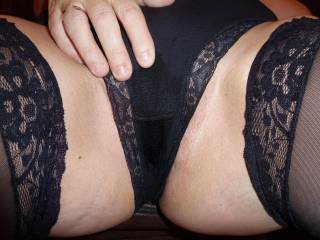 wow,,,, love to lick that sweet pussy through those panties