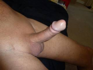 "A very ""Upstanding"" Cock. Love the shaved appearance. Would love to wank and suck you and have you spit your juices onto me."