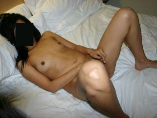 You've got a sexy asian wife, also at the time when she was pregnant, she was hot as hell! I'd love to help you to fuck her for hours, to make her cum several times!