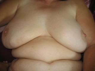 Big milky white breasts