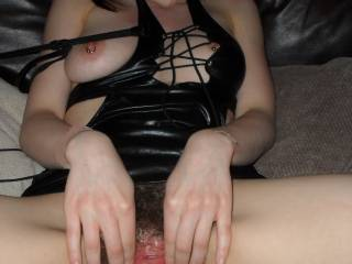 nice, you keep it spread while i fuck it, then we can watch my cum dribble out of it!