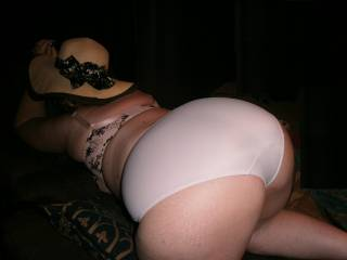 A question for the big panty lovers. What's your fav colour? Me in white.