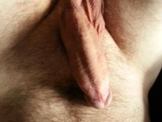 Stroke him till you cum all over your hairy belly and chest;)
