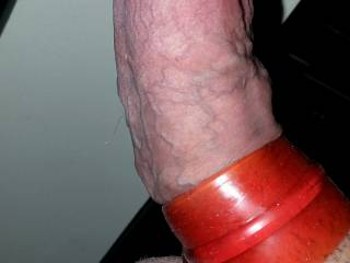 Super stretchy tight sleeve around my cock, with a larger ring around my full balls