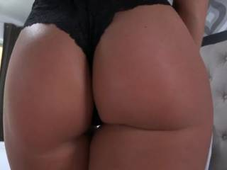 Oh my god I would definitely love to fucking cum behind you if I caught you in front of me like that my cock would be so deep in your pussy I think I might have to use both holes and I would rip those fucking panties off and I'm sure you won't mind it would be worth it