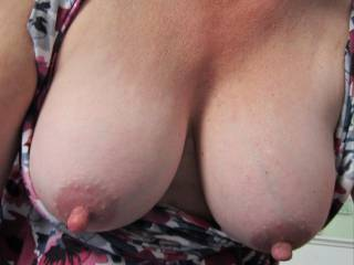 No question about how luscious your breasts are, but I really like the rest of you, too. And how you move when you play with him, moving his cock against your very special nipples.