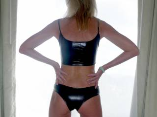 How\'s my ass in latex.....tempting?.....