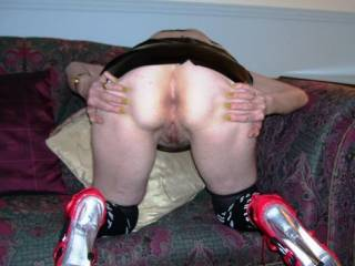 it a good display of cunt and ass that are meant to be used for others' pleasure if mistress would like i could mount and pound with myfat hard dick those cum holes leaving pussy and asshole raw swollen red oozing cum juices