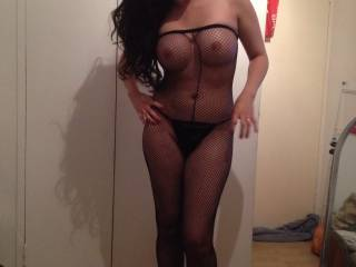 Old pic of my wife in a stocking body suit